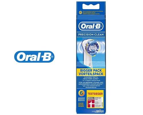 Pack de 6 cabezales cepillo de dientes eléctrico Oral-B barato, cabezales de recambio de Oral-B baratos, chollos en recambios de Oral-B