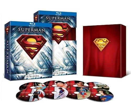Saga de Superman barata, Cine barato, Chollos Blu ray, Ofertas Blu ray, Antologías baratas, Colección de Superman barata