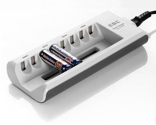 Toma chollo cargador ebl para 8 pilas recargables aa aaa - Cargador pilas recargables ...
