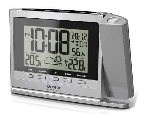 Reloj despertador con estación meteorológica Oregon barato, chollo de reloj despertador con estación meteorológica, oferta en reloj despertador con estación meteorológica