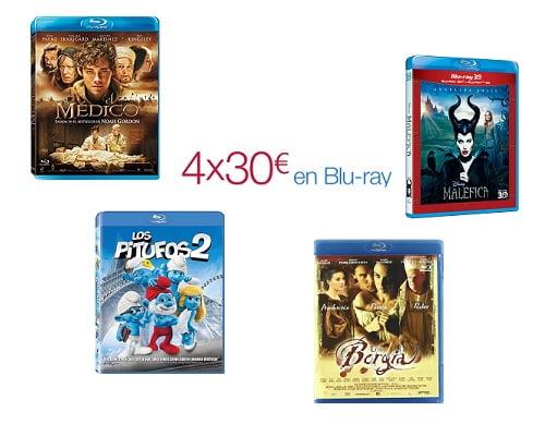 4x30 Blu-Ray, chollos Blu-Ray, películas en Blu-Ray baratas