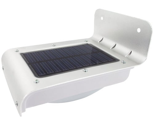 Lámpara solar de aluminio LED The Solar Centre con detector de movimiento barato, lámparas solares LED baratas, chollos lámparas LED