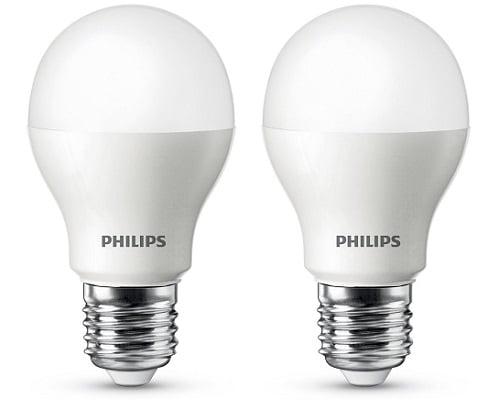 Pack de 2 bombillas Philips LED baratas, Bombillas LED baratas, Chollos bombillas LED, Ofertas bombillas LED