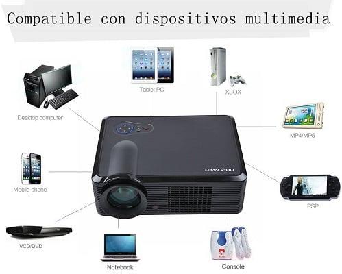 Proyector DbPower barato, proyectores baratos, chollos en proyectores, ofertas en proyectores
