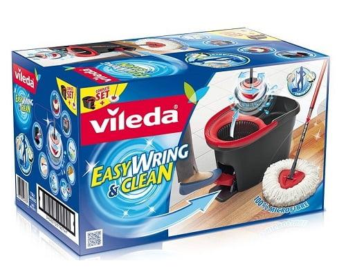 Juego de cubo y fregona de microfibra Vileda EasyWring barato, artículos para limpieza del hogar baratos, fregonas y cubos baratos, fregonas de microfibra baratas