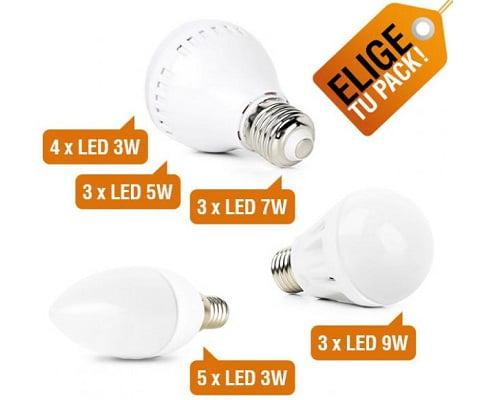 Pack de bombillas LED baratas, bombillas de LED baratas, chollos en bombillas LED, ofertas bombillas LED