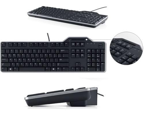 teclado para ordenador smartcard Dell KB813 con lector tarjeta/DNIe barato, chollos en teclados, teclados baratos, ofertas en teclados, teclados con lector de tarjetas baratos