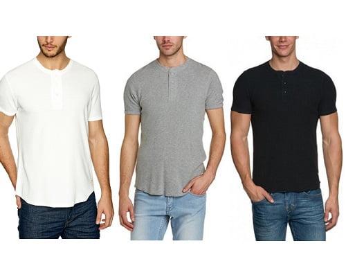 Camisetas Levi's Slim Waffle Henley baratas, camisetas de marca baratas, chollos en camisetas de marca, ropa de marca barata