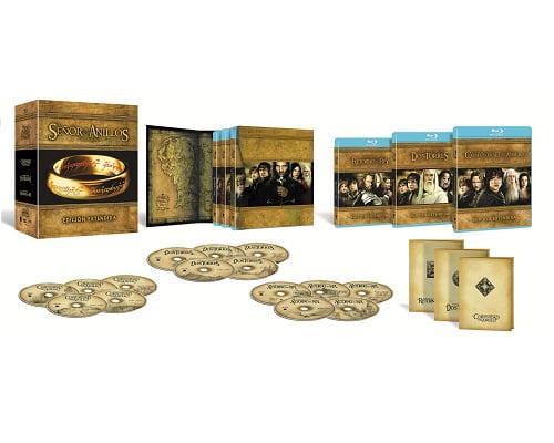 trilogía de El Señor de los Anillos versión extendida barata, cine en Blu-Ray barato, películas en Blu-Ray baratas