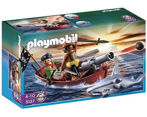 Bote pirata con tiburón de Playmobil barato, juguetes baratos, juguetes Playmobil baratos, chollos en juguetes, chollos Playmobil, ofertas Playmobil
