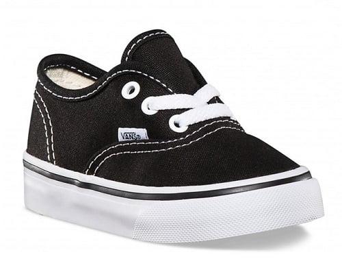 zapatillas vans niño negras