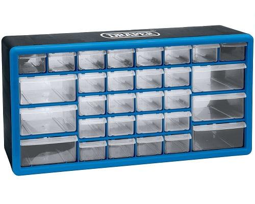 Organizador de herramientas con 30 cajones Draper barato, organizadores de herramientas baratos, chollos en organizadores, estanterías con cajones baratos, organizadores baratos