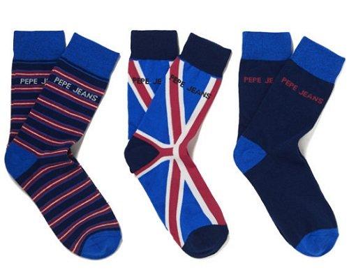 Pack de 3 pares de calcetines Pepe Jeans baratos, calcetines de marca baratos, chollos en calcetines, ofertas en calcetines