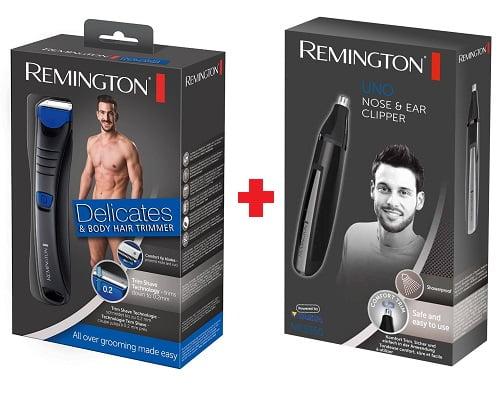 afeitadora corporal Remington Delicates BHT250 y naricero orejero barato, afeitadoras corporales baratas, chollos en afeitadoras corporales, nariceros orejeros baratos