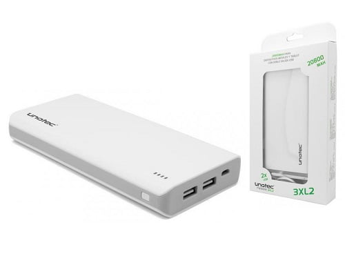 Batería externa Unotec powerbank 3XL2 20800mAh barata, baterías externas baratas, chollos en baterías externas