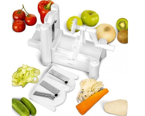 Cortador de verduras espiral barato, accesorios de cocina baratos, cortadores de verduras baratos, chollos en cortadores de verduras