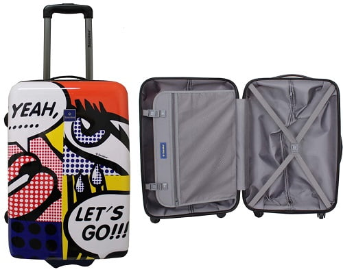 Maleta de cabina rígida Saxoline American Comic barata, chollos en maletas de cabina, maletas baratas, maletas de cabina baratas