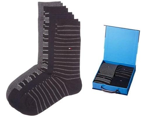 Pack de 4 pares de calcetines Tommy Hilfiger baratos, calcetines de marca baratos, chollos en calcetines de marca, ofertas en calcetines de marca