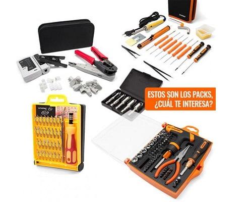 kits de herramientas Unotec baratos, chollos en herramientas, herramientas baratas, kit de soldadura barato, ofertas en herramientas