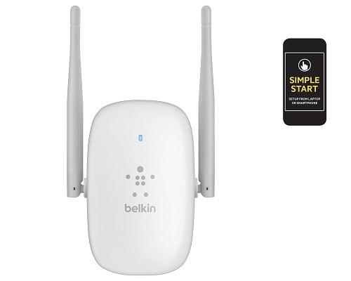 Amplificador de red Wi-Fi Belkin N600 Dual Band barato, extensores de red Wi-Fi baratos, chollos en extensores de red Wi-Fi, routers baratos
