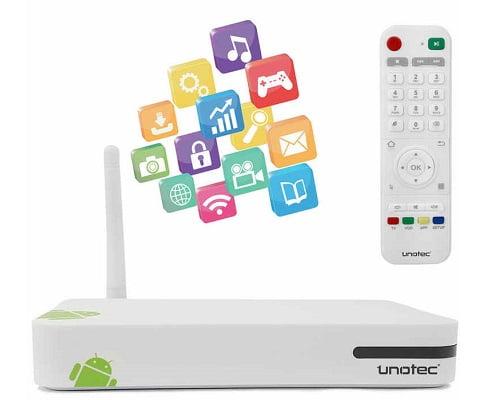 Centro multimedia Unotec Tivibox II barato, centros multimedia Android baratos, chollos en centros multimedia Android