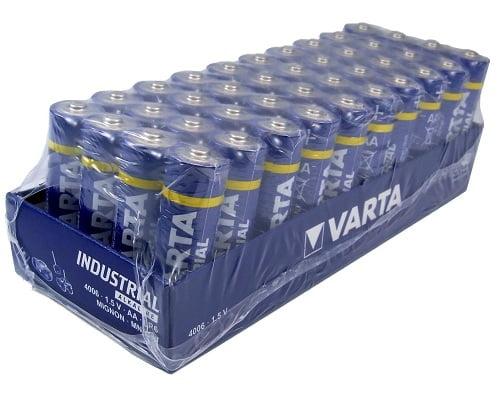 Pack 40 pilas alcalinas AA Varta baratas, pilas AA baratas, chollos en pilas, ofertas en pilas alcalinas