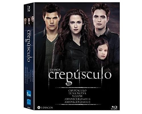 pack saga Crepúsculo en Blu-Ray barato, películas de la saga Crepúsculo baratas, chollos en películas Blu-Ray, películas en Blu-Ray baratas