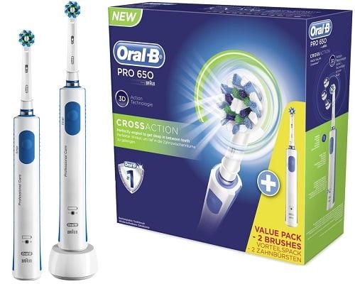 Cepillos de dientes Braun Oral-B PRO 650 baratos, cepillos de dientes eléctricos baratos, chollos en cepillos de dientes, ofertas en cepillos de dientes