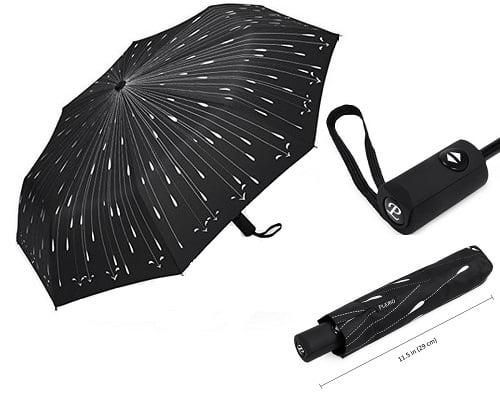 Paraguas automático viaje Plemo barato, paraguas baratos, chollos en paraguas, ofertas en paraguas