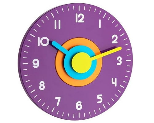 Toma chollo reloj de pared tfa multicolor s lo 10 euros - Relojes de pared modernos online ...