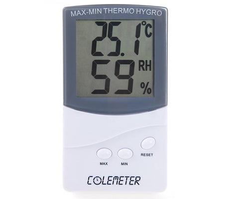 Termómetro higrómetro Colemeter barato, termómetros baratos, higrómetros baratos, chollos en termómetros