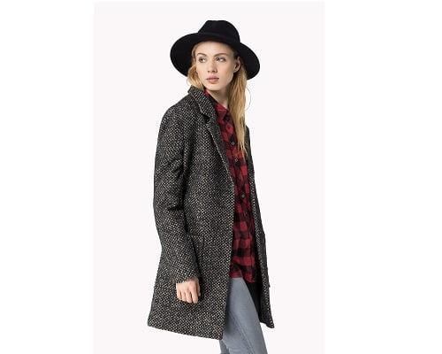 Abrigo de mujer Hilfiger Denim Gia Wool Coat barato, abrigos baratos, chollos en abrigos, ofertas en abrigos