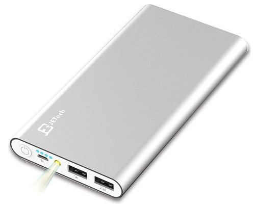 Batería externa JETech de 10000mAh barata, baterías externas baratas, chollos en baterías externas, ofertas en baterías externas