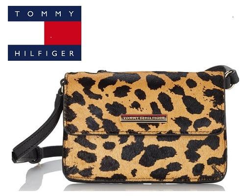 Bolso bandolera Tommy Hilfiger Honey Mini Cheetah, bolsos de marca baratos, chollos en bolsos de marca, ofertas en bolsos