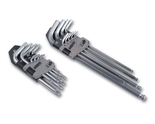 Juego de llaves allen hexagonales y de punta torx Mannesmann M18170 barato, herramientas baratas, chollos en herramientas, ofertas en herramientas