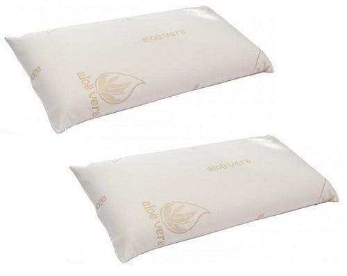 Pack de 2 almohadas viscoelástica Aloe Vera barato, almohadas de viscoelástica baratas, chollos en almohadas de viscoelástica