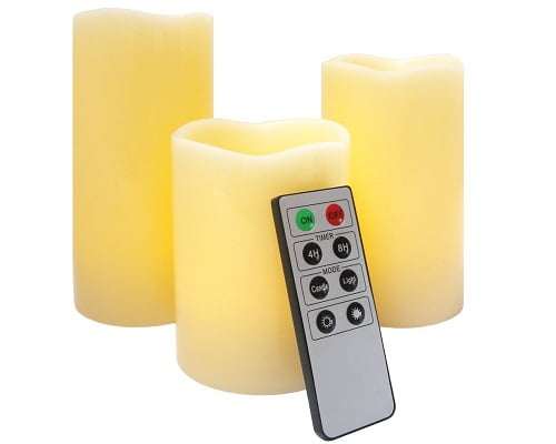 Set de 3 velas LED Frostfire Mooncandles 6005 baratas, velas LED baratas, chollos en velas LED
