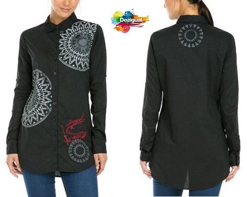 Camisa Desigual Blackville barata, camisas de marca baratas, chollos en camisas, ofertas en camisas de marca