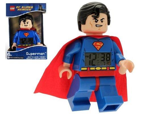 Despertador Superman de Lego DC Superhéroes barato, despertadores infantiles baratos, chollos en despertadores infantiles
