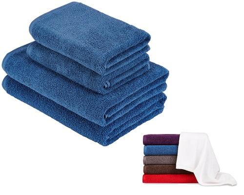 Juego de 4 toallas Juego de 4 toallas de secado rápido 100% algodón AmazonBasics Quick Dry Towes Set baratas, toallas baratas, chollos en toallas, ofertas en toallas