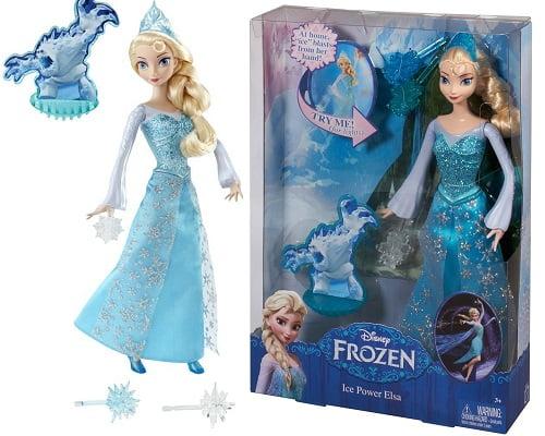 Muñeca Frozen Elsa magia de hielo de Mattel barata, juguetes baratos, muñecas baratas, chollos en juguetes