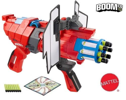 Pistola de dardos BOOMco Twisted Spinner de Mattel barata, juguetes baratos, chollos en juguetes, pistolas de dardos baratas