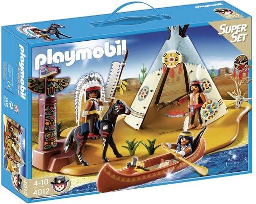 Superset campamento indio de Playmobil barato, juguetes baratos, chollos en juguetes, ofertas en juguetes