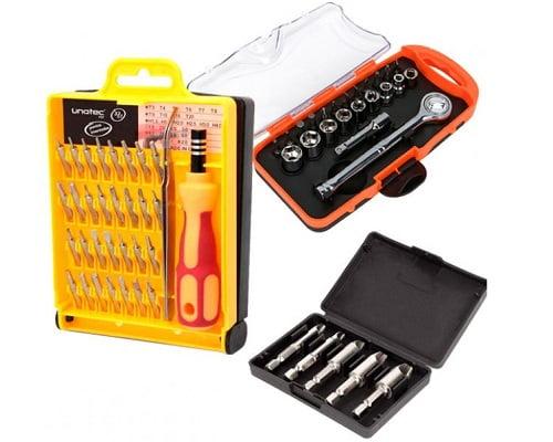 Kit de herramientas Unotec barato, herramientas baratas, chollos en herramientas