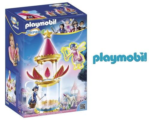 Torre flor mágica musical de Playmobil barata, juguetes Playmobil baratos, chollos en juguetes, juguetes baratos