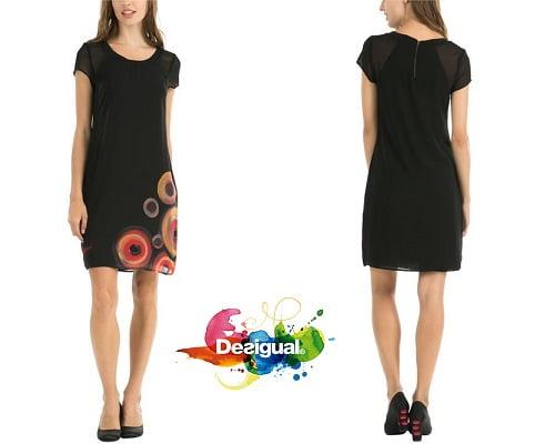 vestido Desigual Eudocia barato, ropa de marca barata, ropa Desigual barata, chollos en ropa, ofertas en ropa, vestidos baratos
