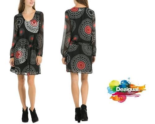 Vestido Desigual Vest Art barato, vestidos baratos, chollos en vestidos, vestidos de marca baratos, ofertas en vestidos, ropa para mujer barata