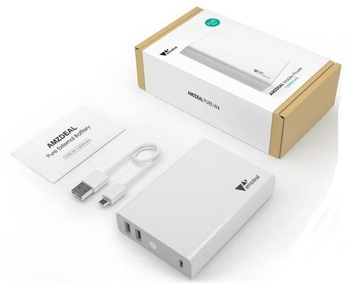 Batería externa Amzdeal 12000mAh barata, baterías externas baratas, chollos en baterías externas, ofertas en baterías externas