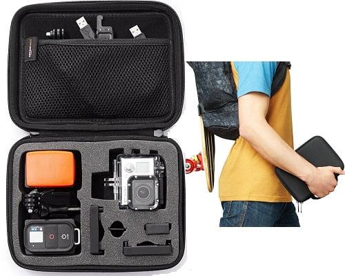 Estuche de transporte para GoPro barato, estuches para cámaras deportivas baratos, accesorios para GoPro baratos, chollos en estuches para GoPro