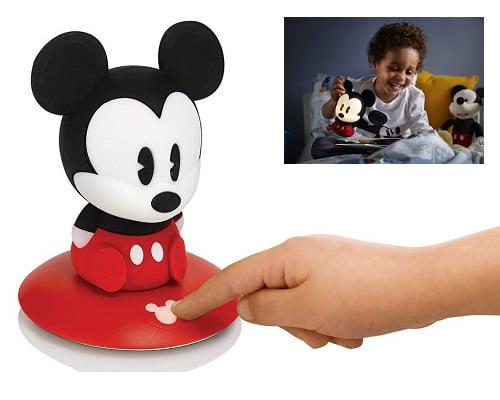 Lámpara infantil Philips SoftPal Mickey LED barata, lámparas LED baratas, lámparas infantiles baratas, chollos en lámparas infantiles de LED, lámparas nocturnas baratas, lámparas de mesa infantiles baratas
